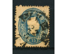 1860 - LOTTO/14117 - AUSTRIA - 15 Kr. AZZURRO - USATO