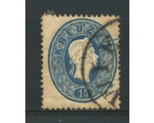 1860 - LOTTO/14120 - AUSTRIA - 15 Kr. AZZURRO - USATO