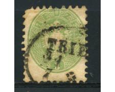 1863/64 - LOTTO/14122 - AUSTRIA - 3 Kr. VERDE - USATO