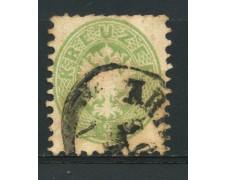 1863/64 - LOTTO/14124 - AUSTRIA - 3 Kr. VERDE - USATO