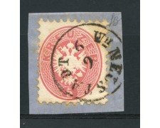 1863/64 - LOTTO/14126 - AUSTRIA - 5 KR. ROSA - USATO SU FRAMMENTO