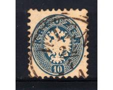 1863/64 - LOTTO/14130 - AUSTRIA - 10 Kr.AZZURRO - USATO