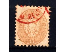 1863/64 - LOTTO/14132 - AUSTRIA - 15 Kr. BISTRO - USATO