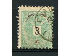 1883 - LOTTO/14166 - AUSTRIA - 3 K. VERDE  - USATO