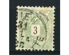 1883 - LOTTO/14169 - AUSTRIA - 3 K. VERDE  - USATO