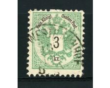 1883 - LOTTO/14170 - AUSTRIA - 3 K. VERDE  - USATO