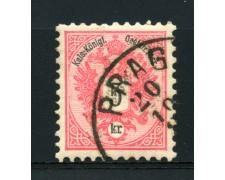 1883 - LOTTO/14174 - AUSTRIA 5 Kr. ROSA - USATO