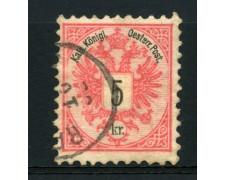 1883 - LOTTO/14175 - AUSTRIA - 5 Kr. ROSA - USATO