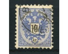 1883 - LOTTO/14177 - AUSTRIA - 10 Kr. AZZURRO - USATO