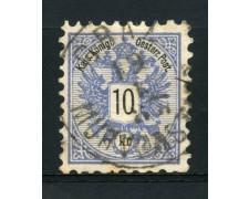 1883 - LOTTO/14178 - AUSTRIA - 10 Kr. AZZURRO - USATO