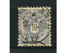 1883 - LOTTO/14181 - AUSTRIA - 10 Kr. AZZURRO - USATO