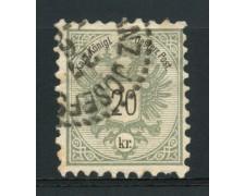1883 - LOTTO/14182 - 20 Kr. GRIGIO LILLA - USATO