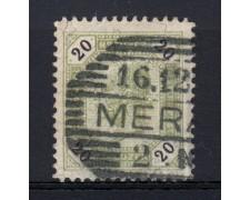 1891 - LOTTO/14211 - AUSTRIA - 20 Kr. OLIVA DENT.12 - USATO