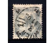 1901 - LOTTO/14214 - AUSTRIA - 50 h. AZZURRO GRIGIO CON LINEE BRILLANTI - USATO