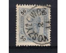 1901 - LOTTO/14216 - AUSTRIA - 50h. AZZURRO GRIGIO LINEE BRILLANTI - USATO