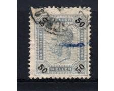 1901 - LOTTO/14217 - AUSTRIA - 50h. AZZURRO GRIGIO LINEE BRILLANTI - USATO