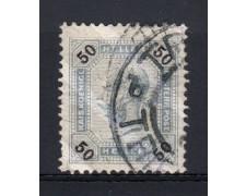 1901 - LOTTO/14218 - AUSTRIA - 50h. AZZURRO GRIGIO LINEE BRILLANTI - USATO