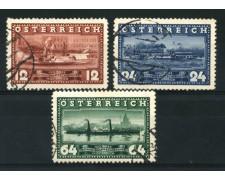 1937 - LOTTO/14280 - AUSTRIA - NAVIGAZIONE A VAPORE  3v. - USATI