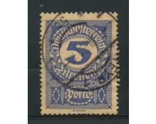 1920 - LOTTO/14284 - AUSTRIA - SEGNATASSE 5k. CARTA GRIGIA - USATO