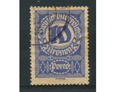1920 - LOTTO/14285 - AUSTRIA - SEGNATASSE 10k. CARTA GRIGIA - USATO