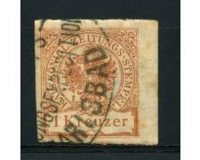 1890 - LOTTO/14295 - AUSTRIA - 1 k. BRUNO SEGNATASSE GIORNALI - USATO