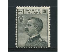 1925 - LOTTO/14324 - REGNO - 30c. GRIGIO NERO - NUOVO
