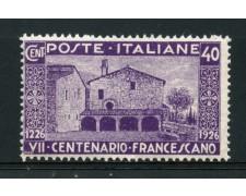 1926 - LOTTO/14328 - REGNO - 40c. SAN FRANCESCO - NUOVO