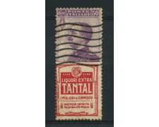 1924/25 - LOTTO/14343 - REGNO - 50c. TANTAL  - USATO