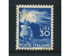 1945 - LOTTO/14350 - REPUBBLICA - 30 LIRE DEMOCRATICA  - S/G