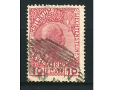1912 - LOTTO/14425 - LIECHTENSTEIN - 10 h. PRINCIPE GIOVANNI - USATO