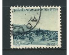 1944 - LOTTO/14427 - LIECHTENSTEIN - 15r. VEDUTE - USATO