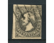 1852 - LOTTO/14433 - LUSSEMBURGO - 10c. GRANDUCA GUGLIELMO - USATO