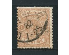 1880 - LOTTO/14434 - LUSSEMBURGO - 1 c. BRUNO  STEMMA - USATO