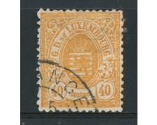 1874/79 - LOTTO/14436 - LUSSEMBURGO - 40c. ARANCIO STEMMA - USATO