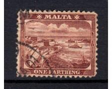 1889 - LOTTO/14445 - MALTA - 1/4p. BRUNO VEDUTE - USATO