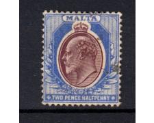 1903/04 - LOTTO/14449 - MALTA - 2,5p. RE EDOARDO - USATO