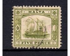 1907 - LOTTO/14456 - 5p. VERDE - USATO