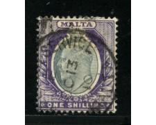 1904 - LOTTO/14457 - MALTA  - 1 Sc. RE EDOARDO - USATO