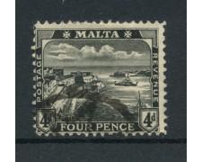 1914/22 - LOTTO/14463 - MALTA - 4p. NERO  VEDUTA - USATO