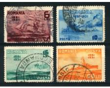 1931 - LOTTO/14502 - ROMANIA - CINQUANTENARIO DELLA MARINA  4v. - USATI