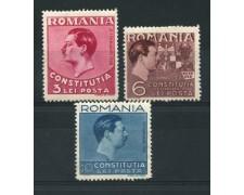 1938 - LOTTO/14509 - ROMANIA - NUOVA COSTITUZIONE 3v. - LING.