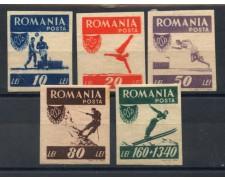 1946 - LOTTO/14527 - ROMANIA - SPORT POPOLARI 5v. - LING.