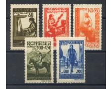 1946 - LOTTO/14529 - ROMANIA - FDERAZIONE DONNE  ROMENE 5v. - LING.