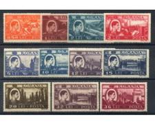 1947 - LOTTO/14533 - ROMANIA - ATTIVITA' NAZIONALI  11v. - NUOVI