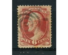1870/71 - LOTTO/14565 - STATI UNITI - 6c. rosa carminio  LINCOLN - USATO