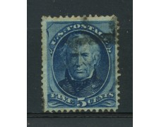 1875 - LOTTO/14567 -  STATI UNITI -  5c. azzurro Z. TAYLOR  - USATO
