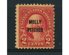 1928 - LOTTO/14580 - STATI UNITI - 2c. SOPRASTAMPATO MOLLY PITCHER - LING.