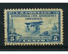 1928 - LOTTO/14582 - STATI UNITI - 5c. CONFERENZA AVIAZIONE - USATO