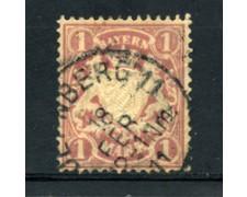 BAVIERA - 1911 - LOTTO/14619A - 1 M. MALVA - USATO
