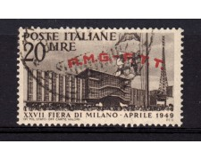 1949 - LOTTO/14681 - TRIESTE  A -  20 LIRE FIERA DI MILANO - USATO